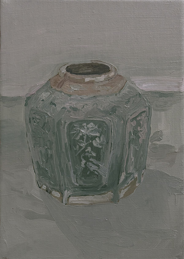 ginger jar, oil on linen, 2016, jacob de graaf