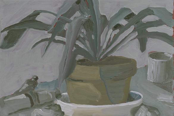 in my studio - oil on linen, 2016, jacob de graaf