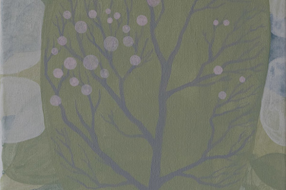 spring tree, mixed media on canvas, 2015 - jacob de graaf