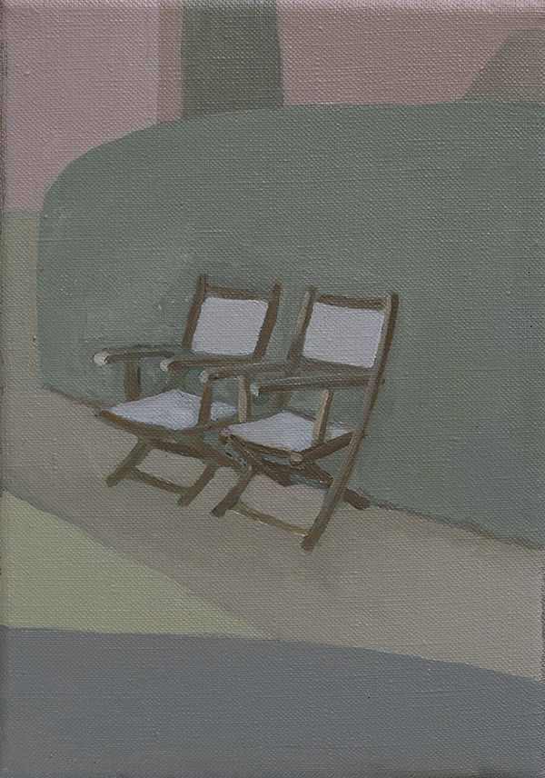 two chairs, oil on linen, 2016, jacob de graaf