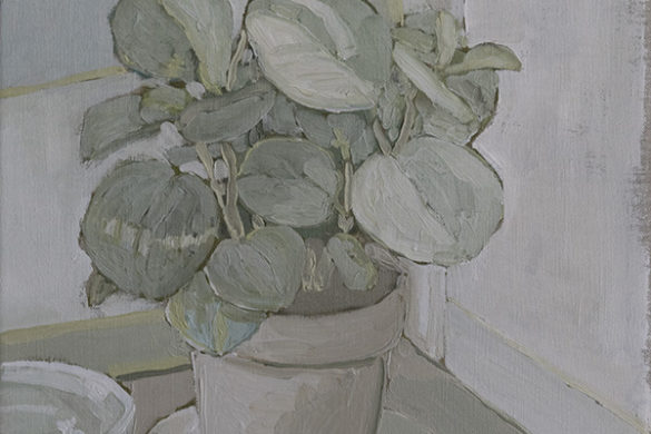 peperomia, oil on linen, 2016 - jacob de graaf