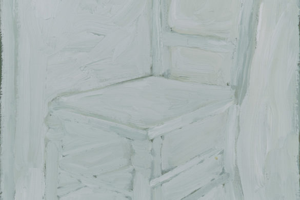 White chair no. 2, 2016 - oil on linen, painting by Jacob de Graaf