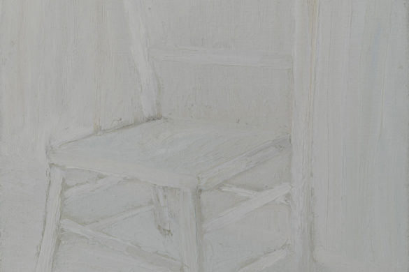 White Chair No. 1, 2012, oil on linen by Jacob de Graaf